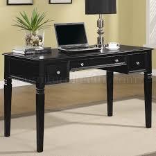 Designer home office desks Living Room Wolf Furniture Rich Black Finish Modern Home Office Desk Wnickel Hardware