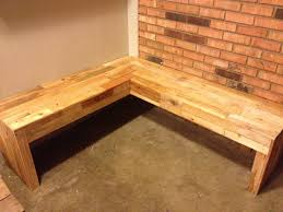 Corner bench made from pallets