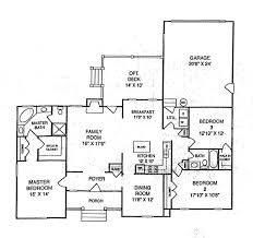 ranch floor plans with family room