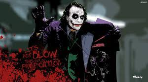 Joker Heath Ledger With Quotes HD Wallpaper