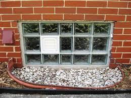 image of installation glass block basement windows