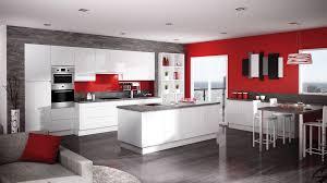 Great Deco Cuisine Gris Et Rouge Salon Rouge Et Gris Beautiful Cuisine