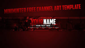 Youtube Channel Art Background Miniminter Based Channel Art Template Free