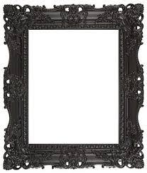 black carved swept frame black picture frame p42 frame