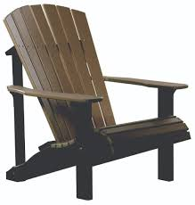 furniture deck. Picture Of LuxCraft Poly Deluxe Adirondack Chair Furniture Deck -