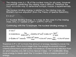 the missing mass is 1 of the nuclear mass for all cases however