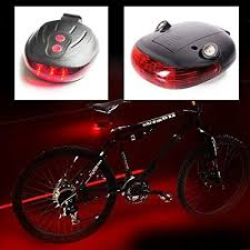Buy Powerful 5 LED <b>Bicycle</b> 2 <b>Laser</b> Lane <b>Tail Light</b> Road Safety for ...