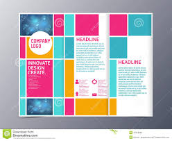 Folding Poster Template Abstract Colorful Brochure Design Template Vector Tri Fold