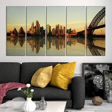 large wall art sydney canvas print sydney opera house and harbour bridge with reflection on water mygreatcanvas extra large wall art wall art  on wall art sydney with large wall art sydney canvas print sydney opera house and harbour
