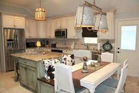 kitchen island with seating butcher block. Rustic Kitchen Island With Seating Butcher Block  Bench And White Dining