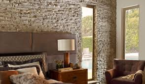 Contemporary Stone Wall Bedroom Contemporary Bedroom