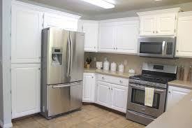 Pot Racks For Small Kitchens Kitchen Cabinets Antique White Cabinets Black Appliances Small