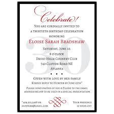 celebration invite classic 30th birthday celebrate party invitations