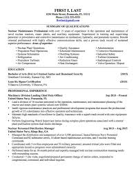 Military Resume Template