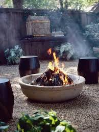 diy outdoor fire pit with a kid pool and cement bowl fire pit
