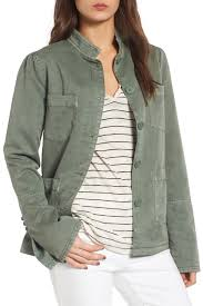 image of hinge peplum utility jacket
