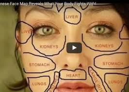 Chinese Face Mapping Skin Analysis Chart Chinese Face Map