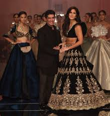 Manish Malhotra Designer Long Skirts Lakme Fashion Week Winter Festival 2019 Katrina Kaif Walks