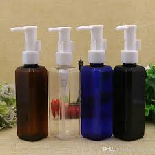 Decorative Bottles For Shampoo And Conditioner 100x100ml Clear Blue Brown Black Square Shampoo Press Pump Bottle 53