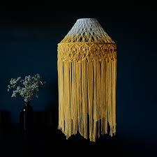 Boho Light Shade Boho Light Shade Yellow Ombre Macrame Light Shades The