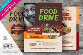 Food Drive Flyer Samples Thanksgiving Food Drive Flyers Flyer Templates Creative Market 4