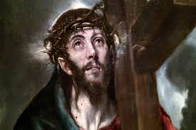 14 2 bearing the cross uphill close up by el greco national museum of fine arts mnba buenos aires