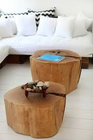 DIY Coffee Table Round Wood Round Coffee Table Tree Stump Himself Making