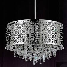 cool drum shade crystal chandelier 5 drum light with crystals