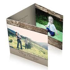 Rustic Tri Fold Christmas Cards