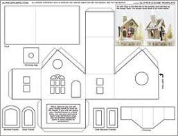 christmas house template glitter house template collage sheet glitter houses putz