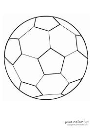 Coloring Pages Football Soccer Ball Templates Rome Fontanacountryinn Com