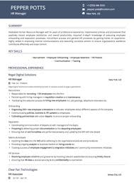 resume for human resources manager hr manager resume sample by hiration