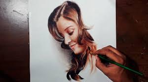 drawing aishwarya rai oil painting dry brush prismacolor pencils you