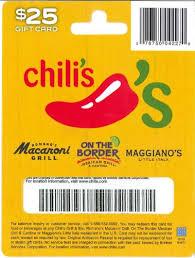 chilis customer service amazon com chilis gift card 25 gift cards