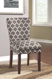 ... Full size of Patterned Upholstered Dining Chairs Inspire Q Catherine  Moroccan Pattern Fabric Parsons Dining Chair ...