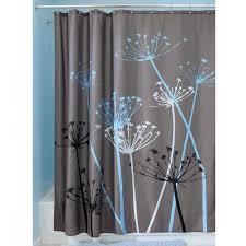 coral and brown shower curtain. bathroom shower curtain sets | seashell aqua and coral brown