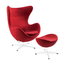 modway glove red accent chair
