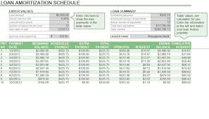 Loan Calculation Template Amortization Schedule Formula Amortization Schedule