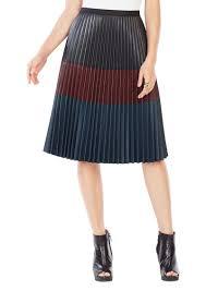bcbg max azria bcbgmaxazria elsa pleated faux leather skirt