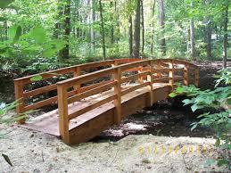 Small Picture Garden Bridges 4 52ft long Elegant Wooden Landscape Garden Bridge