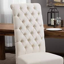 best selling natural tall tufted dining chair 2 pack
