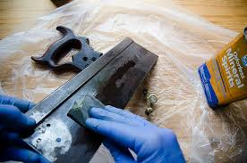 antique hand saw types. cleaning an antique simonds 97 hand saw plate with mineral spirits and sandpaper on a woodworking types