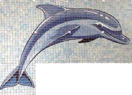 printed mosaic pool tiles