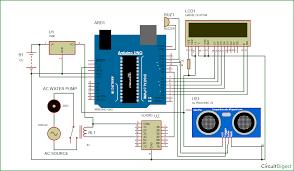 arduino based automatic water level indicator and controller project water level indicator and controller circuit diagram