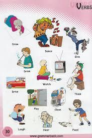 Verbs For Kids 10 Jpg 900 1350 English Vocabulary Pinterest