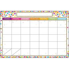 Smart Confetti Calendar Chart Dry Erase Surface