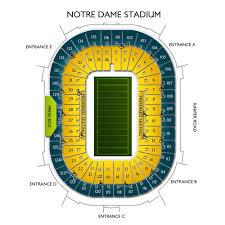University Of Notre Dame Football Stadium Seating Chart Notre Dame Stadium 2019 Seating Chart