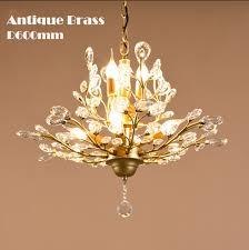living room 7 lights antique crystal chandelier lamp lighting finished in black antique brass painting