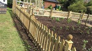 pretty picket fence for vegetable