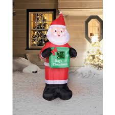Holiday Time 7' Countdown Calendar Santa Christmas Inflatable ...